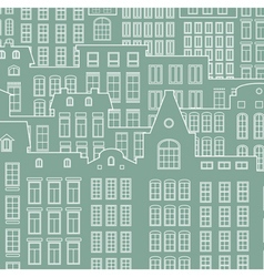 Contour of city on a light background vector