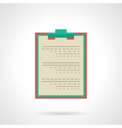 Doctor clipboard flat color icon vector