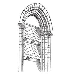 Abat-vent windbreaks vintage engraving vector