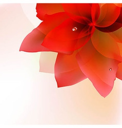 Abstract red tulip with blur vector