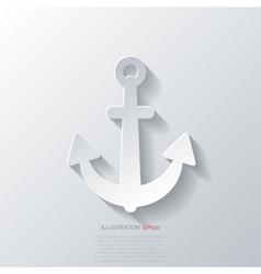 Anchor web icon vector