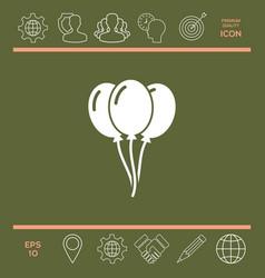 balloons icon vector image vector image