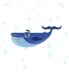 Blue whale drawing vector