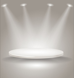 Bright stage with spot lights vector image vector image