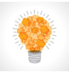 Creative light-bulb of message bubble vector image vector image