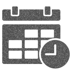 Date and time grainy texture icon vector