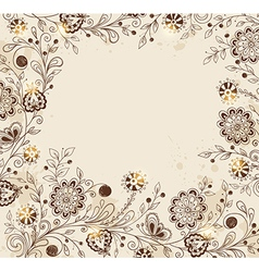 Decorative hand drawn background vector