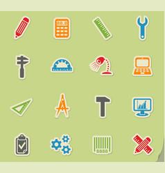 Engineering icon set vector