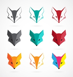 Fox face vector