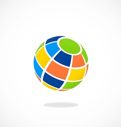 globe colorful abstract logo vector image vector image