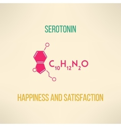 Happiness and satisfaction chemistry concept vector image vector image