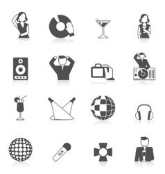Nightclub icon set vector