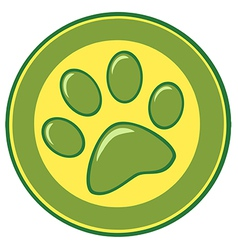 Paw Print Banner vector image