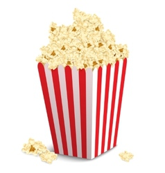Popcorn box isolated vector