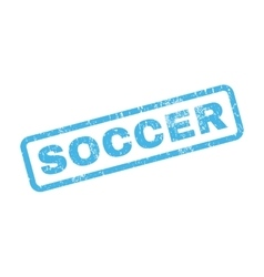 Soccer rubber stamp vector