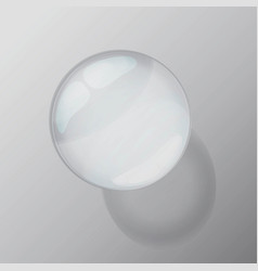 transparent drop isolated with shadow vector image