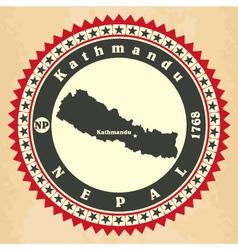 Vintage label-sticker cards of nepal vector