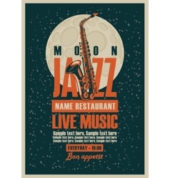 Poster with jazz restaurants with live music vector