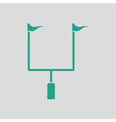 American football goal post icon vector