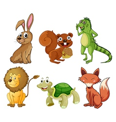 Four-legged animals vector image