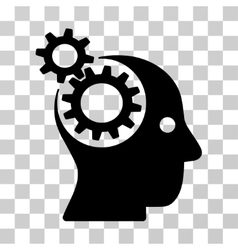 Intellect gears icon vector