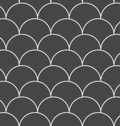 Dark gray overlapping circles vector
