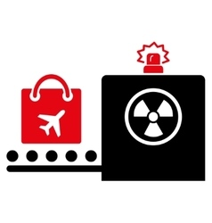 Baggage screening flat icon vector