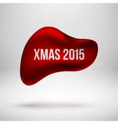Red xmas bubble badge vector