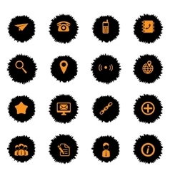 Contacts simply icons vector