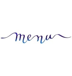 Calligraphy menu card vector