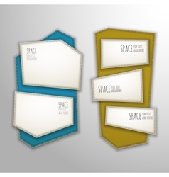 Patch banners vector
