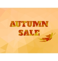background low poly style sale text for vector image