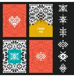Abstract card templates vector