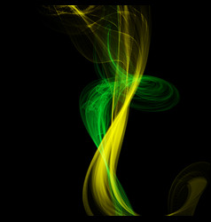 abstract colorful smoke isolated on black style vector image vector image