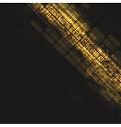 Abstract dark orange tech geometric background vector