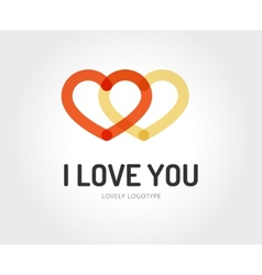 Abstract love logo template for branding vector