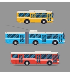 Bus icon flat design city transportation vector image vector image