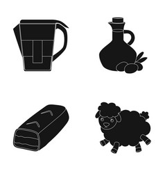 chemistry products and or web icon in black style vector image vector image