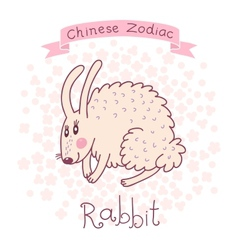 Chinese zodiac - rabbit vector