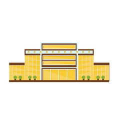 Classy yellow symmetrical shopping mall modern vector