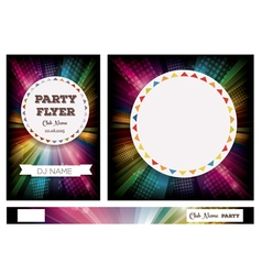 Club Flyers with copy space and rainbow vector image