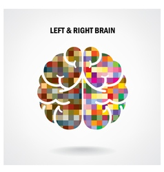 Color creative brain sign vector