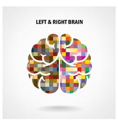 Color creative brain sign vector