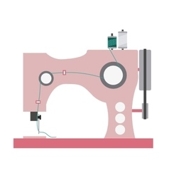 Color silhouette with sewing machine vector