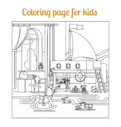 Coloring book page for kids vector