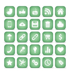 Communication icons Web set Internet collection vector image