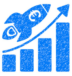 Euro success business start grunge icon vector