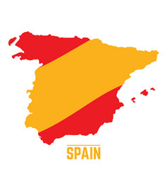 flag and map of spain vector image vector image