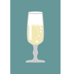 Glass of champagne Glass for wine Bowl with white vector image