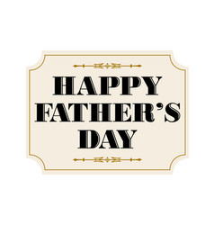 happy fathers day placard black gold vector image vector image